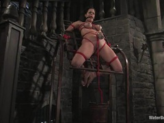 Strapped and clamped Mia Bangg puts up with the torment