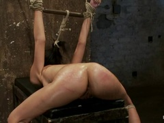Hot Heather Vahn is tied up and has her ass whipped