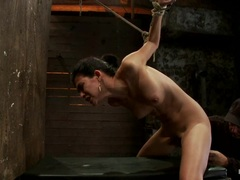 Heather Vahn gets tormented as she is tied up