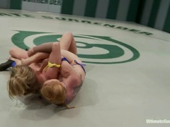 Wrestling with hot blonde babe Holly Heart