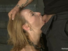 Jessie Coxxx gets her orders to suck this hot cock