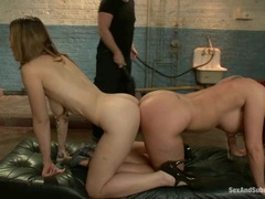 Nipple clamping with Kelly Divine and her horny mate