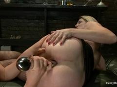 Krissy Lynn rams the rump of Angela Attison