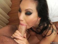 Sumptuous Asa Akira gets her slippery throat slammed