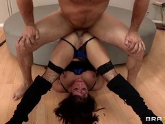 Arousing Tory Lane takes a tube steak up her ass