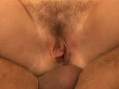 Ashley Blue watches Tatiana Kush get an anal creampie