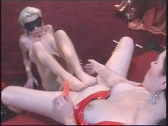 Kinky Anastasia Pierce is toe fucked by Nikki Benz