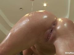 Naughty Brynn Tyler gets stuffed up her wet pantie pot