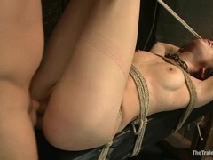 Rampant Asphyxia is dicked up her wet pantie pot
