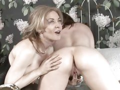 Old fashion pussy play Nica Noelle and Nina Hartley