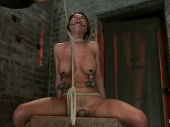 Naughty Alexa Nicole gets bound up & teased