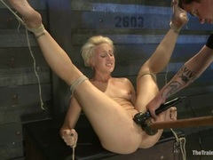 Alluring Dylan Ryan has her dripping snatch toyed