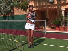 Naughty Little Caprice is a knock out on the court