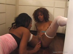 Rampant Misty Stone gets fingered by Rane Revere