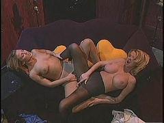 Carolyn Monroe & Britney Foster fuck in pantyhose