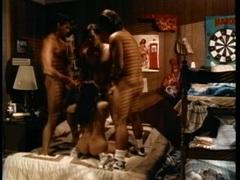 Sassy Selena Steele gobbles down these hard cocks