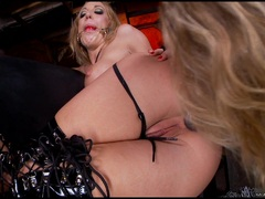 Naughty Amy Brooke gets her ass toyed by Kagney Karter