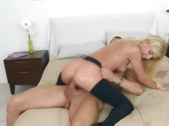 Wild Carmen Monet rides her hot slot on a hard cock