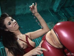Rebecca More lets Megan Coxx extract anal beads