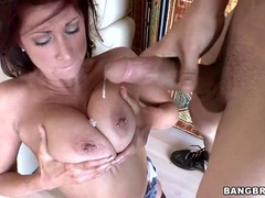 Tiffany Mynx gets her tits splattered with cum