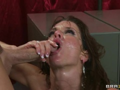 Naughty Veronica Avluv is covered in warm dick milk