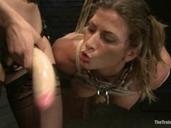 Sexy Ariel Carmine gets toy fucked by Bobbi Starr