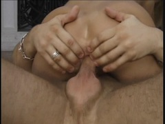 Babe Caroline De Jaie gets dicked up her butt hole