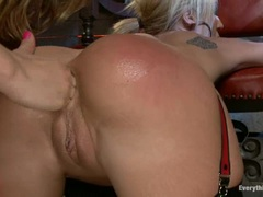 Alluring Amy Brooke gets fisted by Kristina Rose
