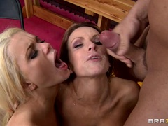 Alexis Ford & Courtney Cummz are covered in prick paste