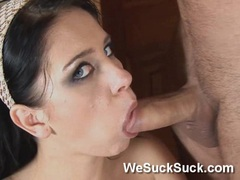 Jessica Rox Blows cock and loves to lick its head