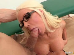 Blistering Holly Price is showered in cock sauce