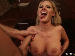 Red hot Zoey Holiday gets splattered in dick milk