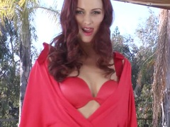 Awesome Karlie Montana strips outta her lingerie