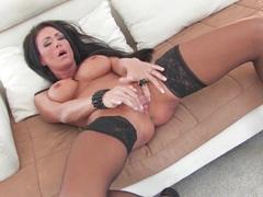 Sizzling Jessica Jaymes torments her wet pantie pot