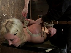 Awesome Cherry Torn gets a thrill from being bound