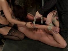 Naughty Isis Love torments a horny Cassandra Nix