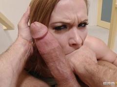 Horny Katja Kassin slurps on this tasty prick