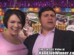 Giving hand HD Courtney cummz job