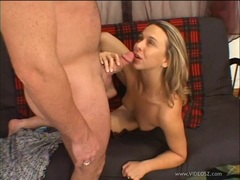 Brianna Beach gets drenched in warm cock juice