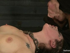 Luscious Asphyxia loves guzzling down hot cock juice