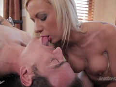 Kaylee Hilton takes a huge dick down her throat