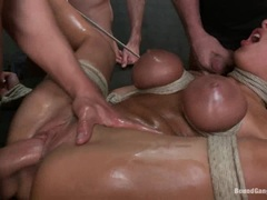 Saucy Anissa Kate gets a face full of hot dick juice