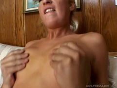 Cameron James bounces her moist pussy on a stiff cock