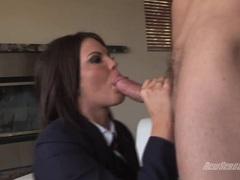 Schoolgirl Teen Brunette MacKenzee Pierce sucking