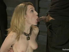 Sumptuous Lily Luv drools over a hard throbbing cock