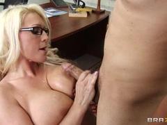Sadie Swede uses her globes to wank a hard dick