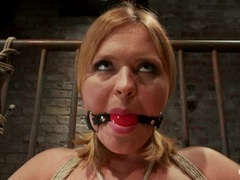 Dominated Krissy gets her juicy moist pussy tormented
