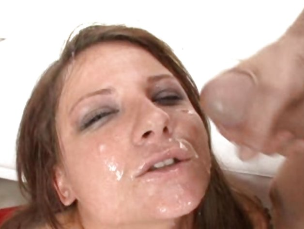 Casey Cumz is bukkaked by a group of spunk sticks