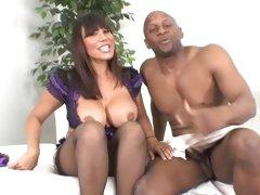 Sexy MILF Ava Devine takes a black cock anal