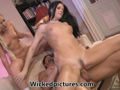 Babysitter Ally Kay joins in with her bosses